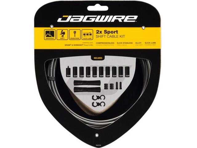 Jagwire 2X Sport Shift Schakelkabel Set voor Shimano/SRAM, grijs